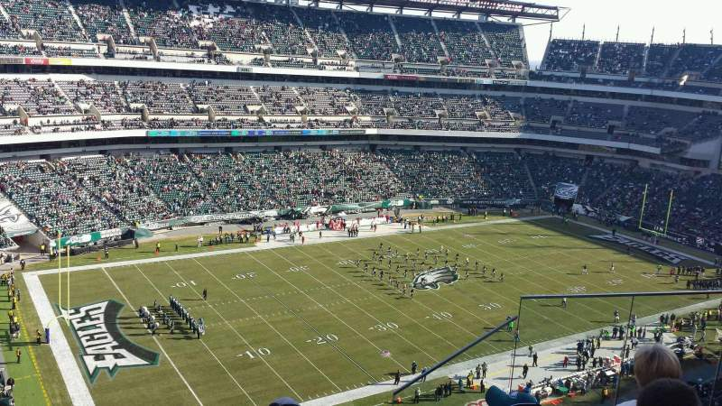 Seating view for Lincoln Financial Field Section 240 Row 9 Seat 5