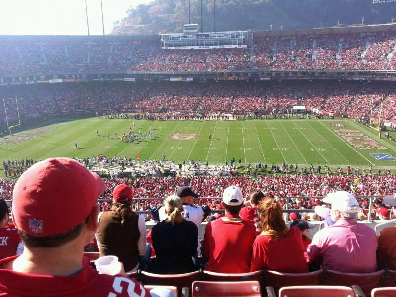 Seating view for Candlestick Park Section UR43 Row 5 Seat 4