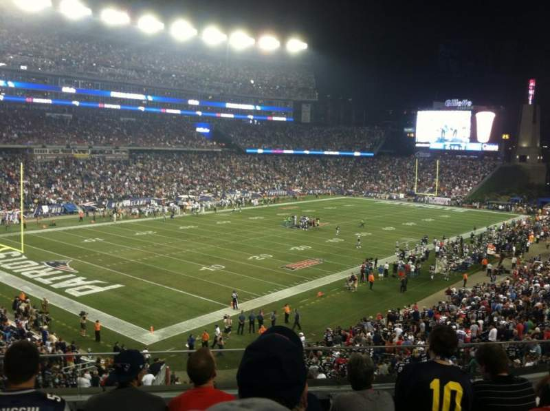 Seating view for Gillette Stadium Section 215 Row 5
