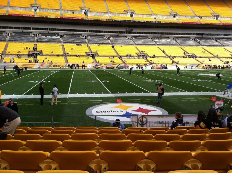 Seating view for Heinz Field Section 132 Row H