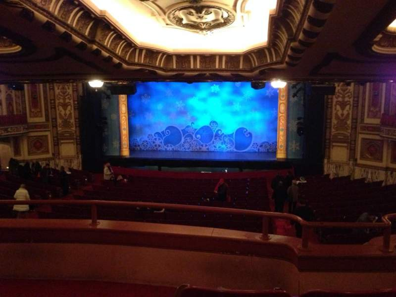 Seating view for Cadillac Palace Theater Section Dress Circle RC Row C Seat 223