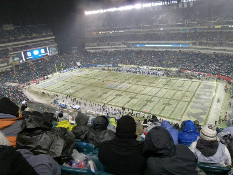 Seating view for Lincoln Financial Field Section 226 Row 16 Seat 10
