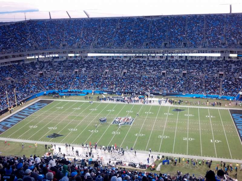 Seating view for Bank of America Stadium Section 513 Row 34 Seat 1
