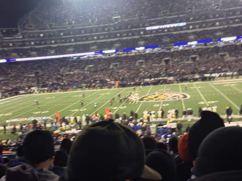 Seating view for M&T Bank Stadium Section 153 Row 34 Seat 18
