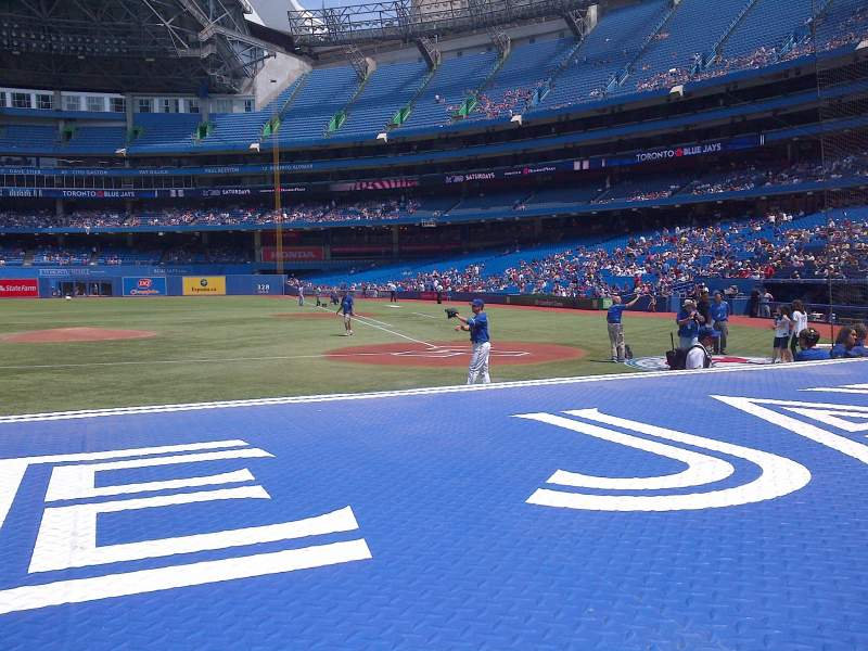 Seating view for Rogers Centre Section 125R Row 1 Seat 7