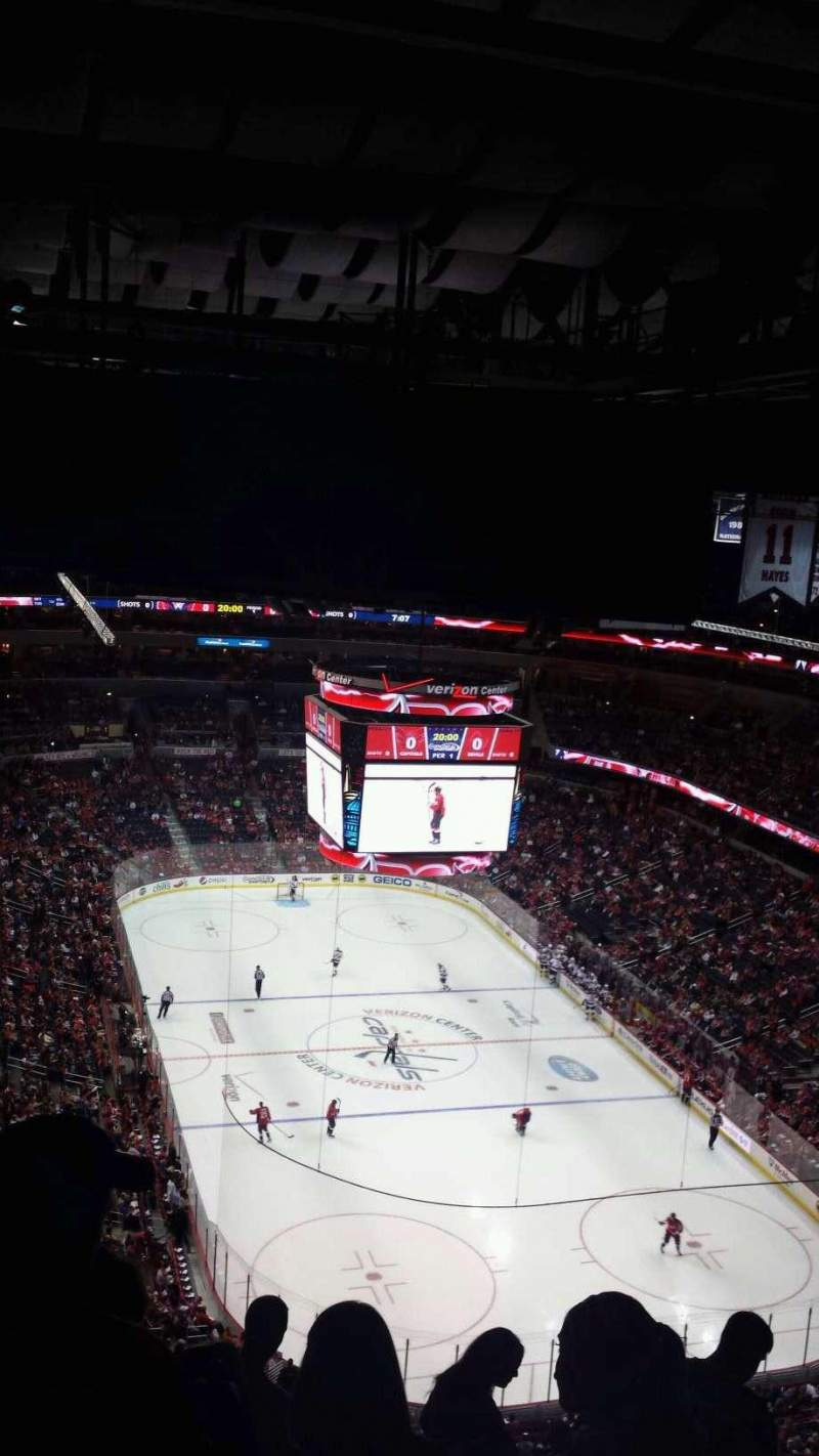 Seating view for Verizon Center Section 424 Row p Seat 10