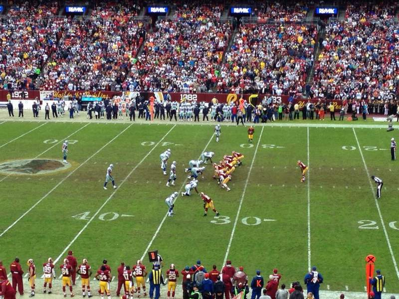 Seating view for FedEx Field Section 341 Row 2 Seat 5