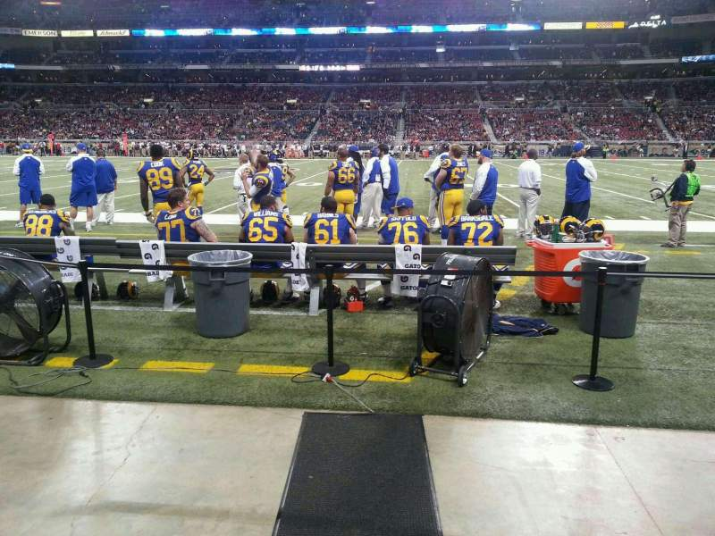 Seating view for The Dome at America's Center Section 112 Row A Seat 20