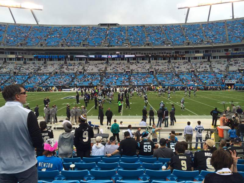 Seating view for Bank of America Stadium Section 111 Row 8 Seat 12