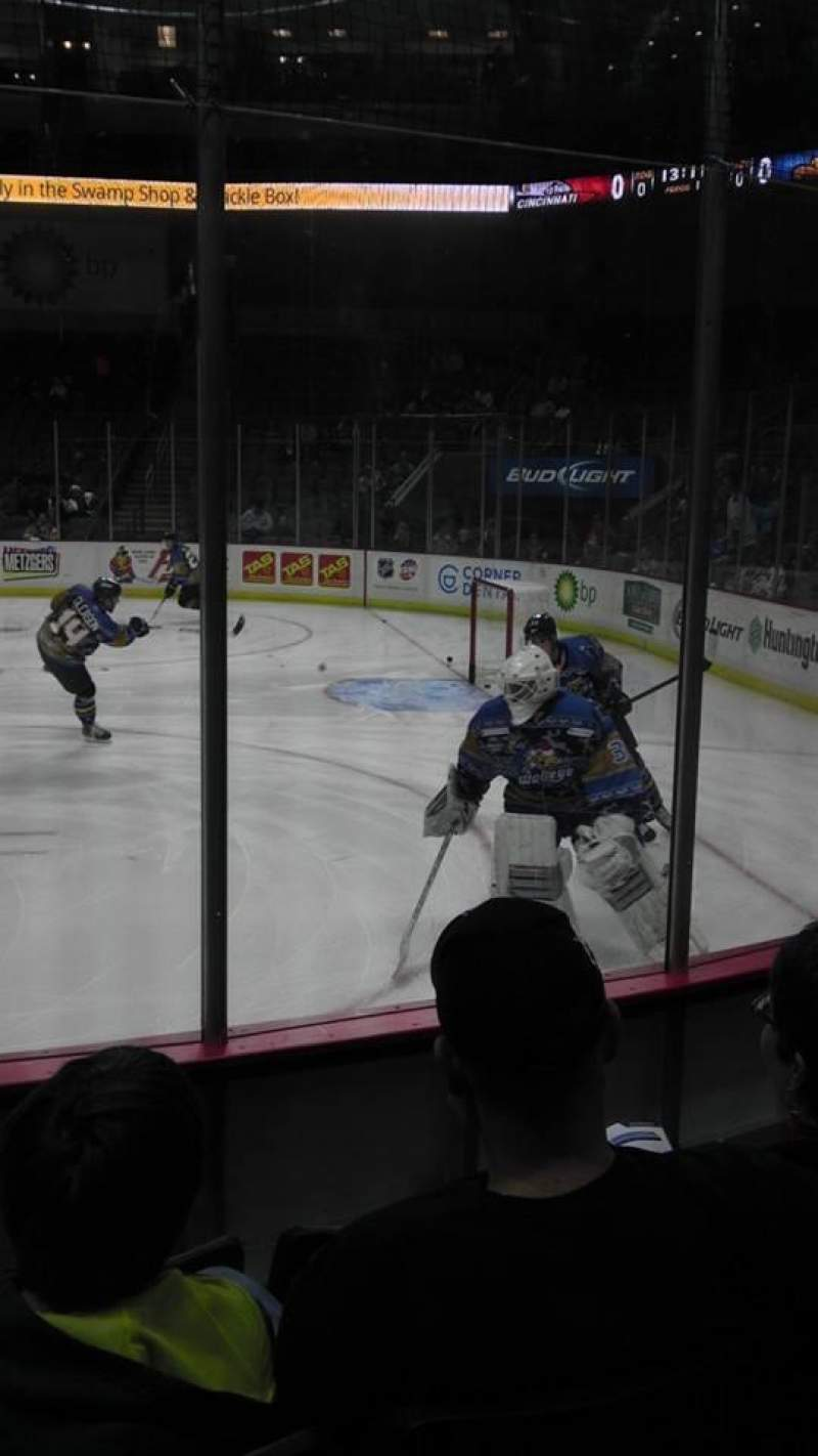 Seating view for Huntington Center Section 104 Row D Seat 8