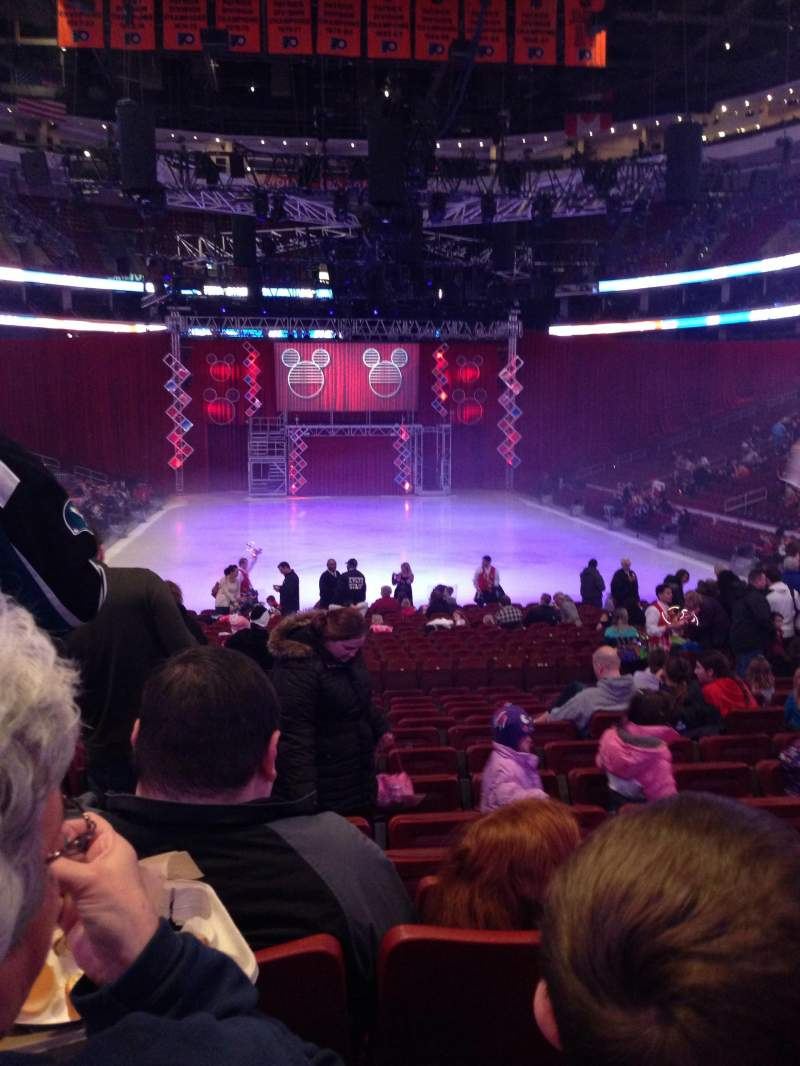 Seating view for Wells Fargo Center Section 107 Row 14 Seat 1