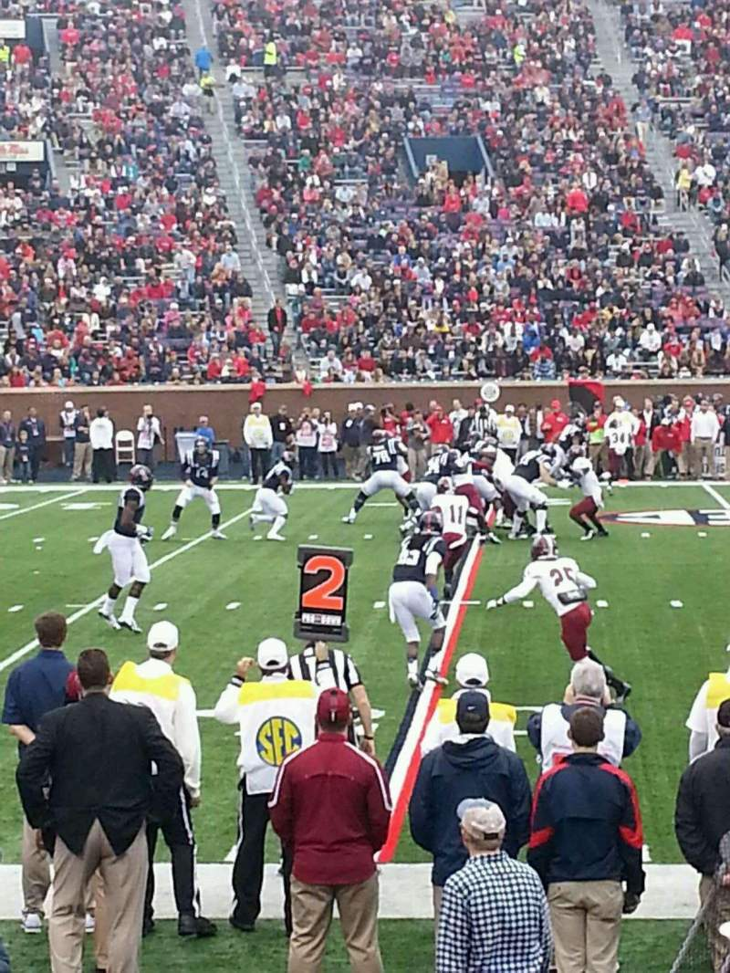 Seating view for Vaught-Hemingway Stadium Section Q Row 5 Seat 16