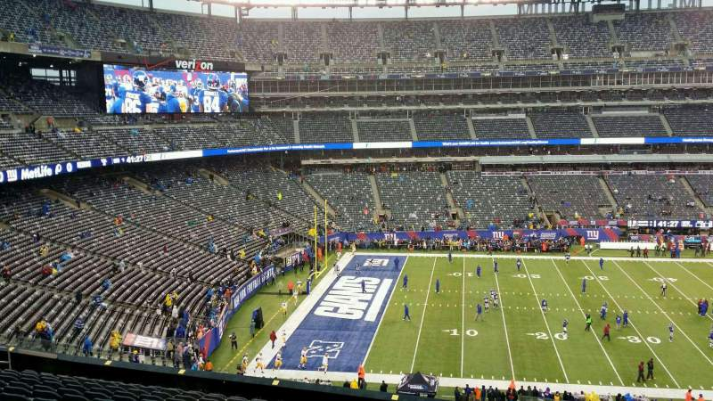 Seating view for MetLife Stadium Section 216 Row 1 Seat 21