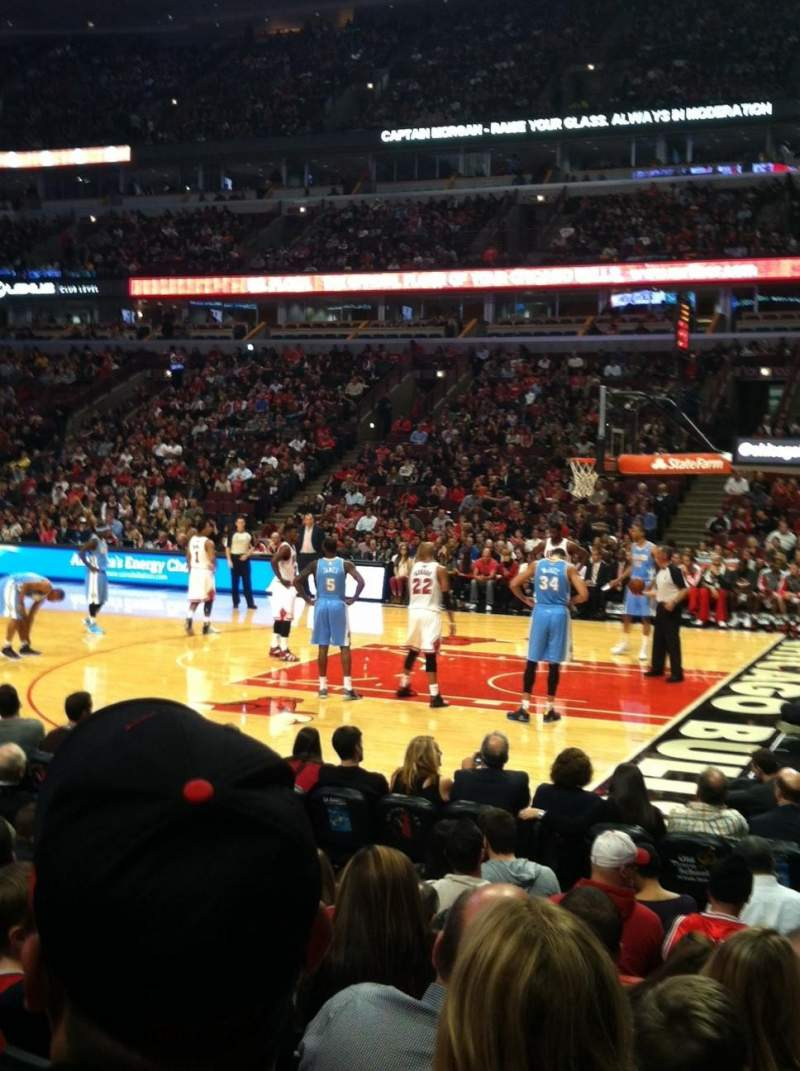 Seating view for United Center Section 110 Row 7 Seat 8