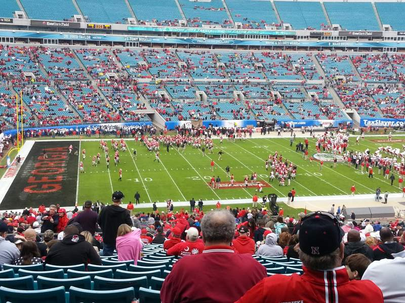 Seating view for EverBank Field Section 240 Row cc Seat 20