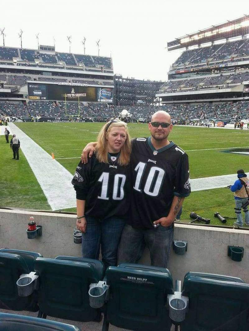 Seating view for Lincoln Financial Field Section 127 Row 1 Seat 8-9
