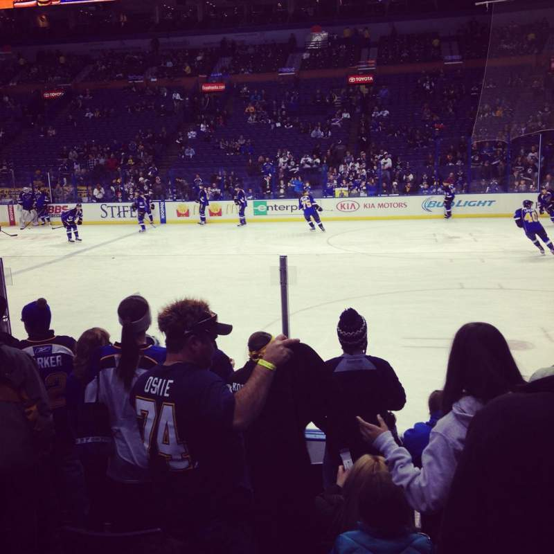 Seating view for Scottrade Center Section 101 Row G Seat 113
