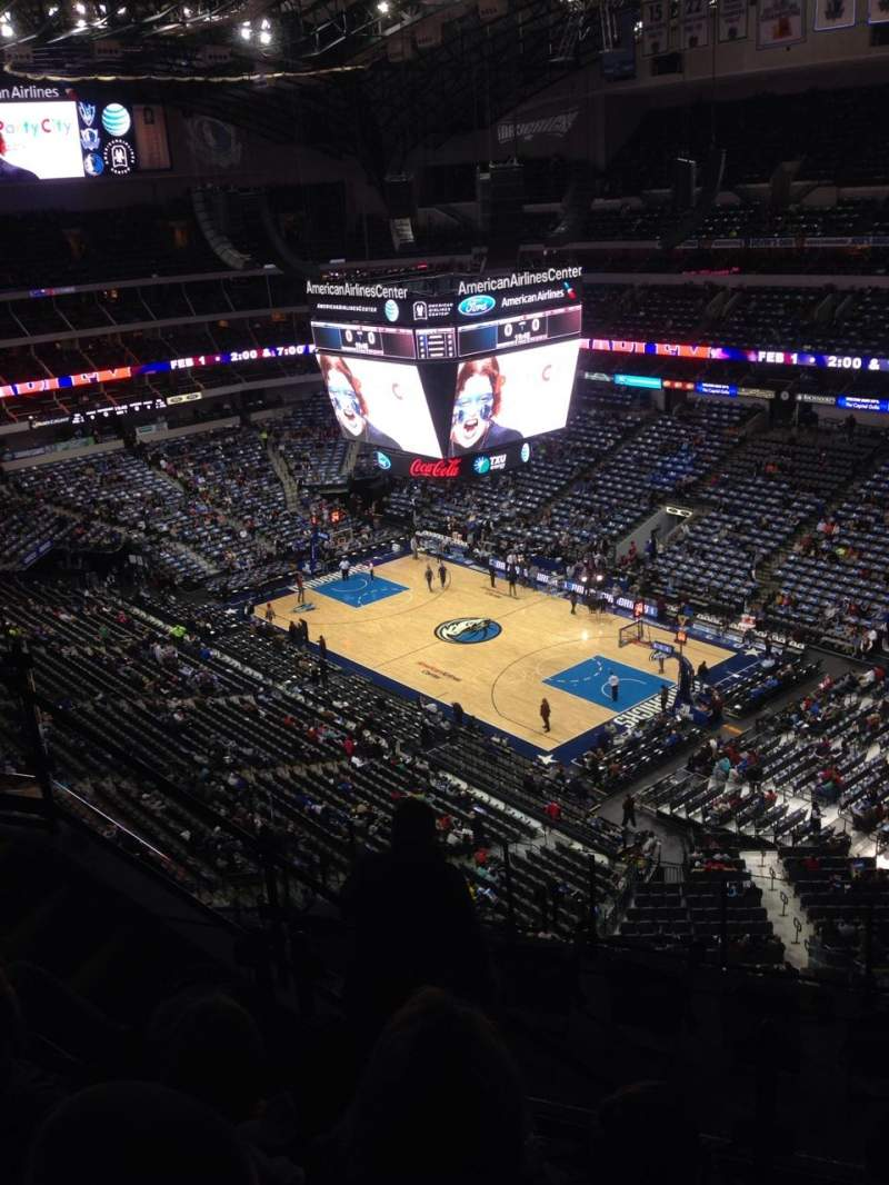 Seating view for American Airlines Center Section 305 Row J Seat 3