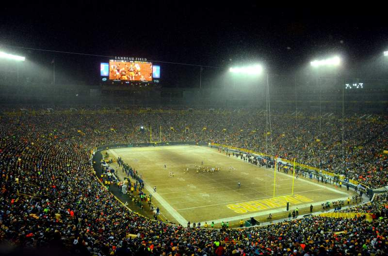Seating view for Lambeau Field Section 442S Row 1 Seat 1
