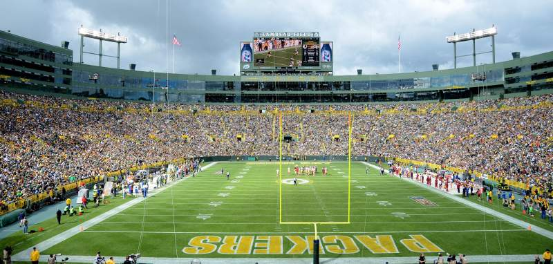 Seating view for Lambeau Field Section 138 Row 36 Seat 24