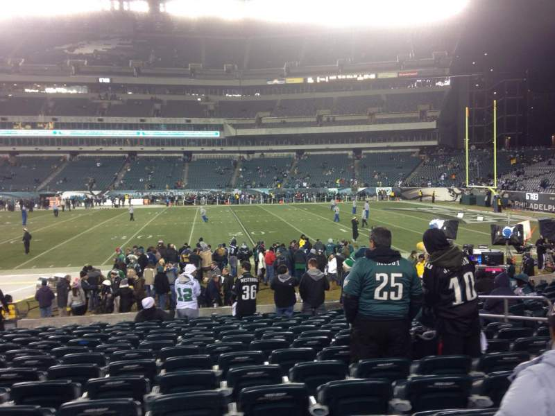Seating view for Lincoln Financial Field Section 123 Row 14 Seat 11