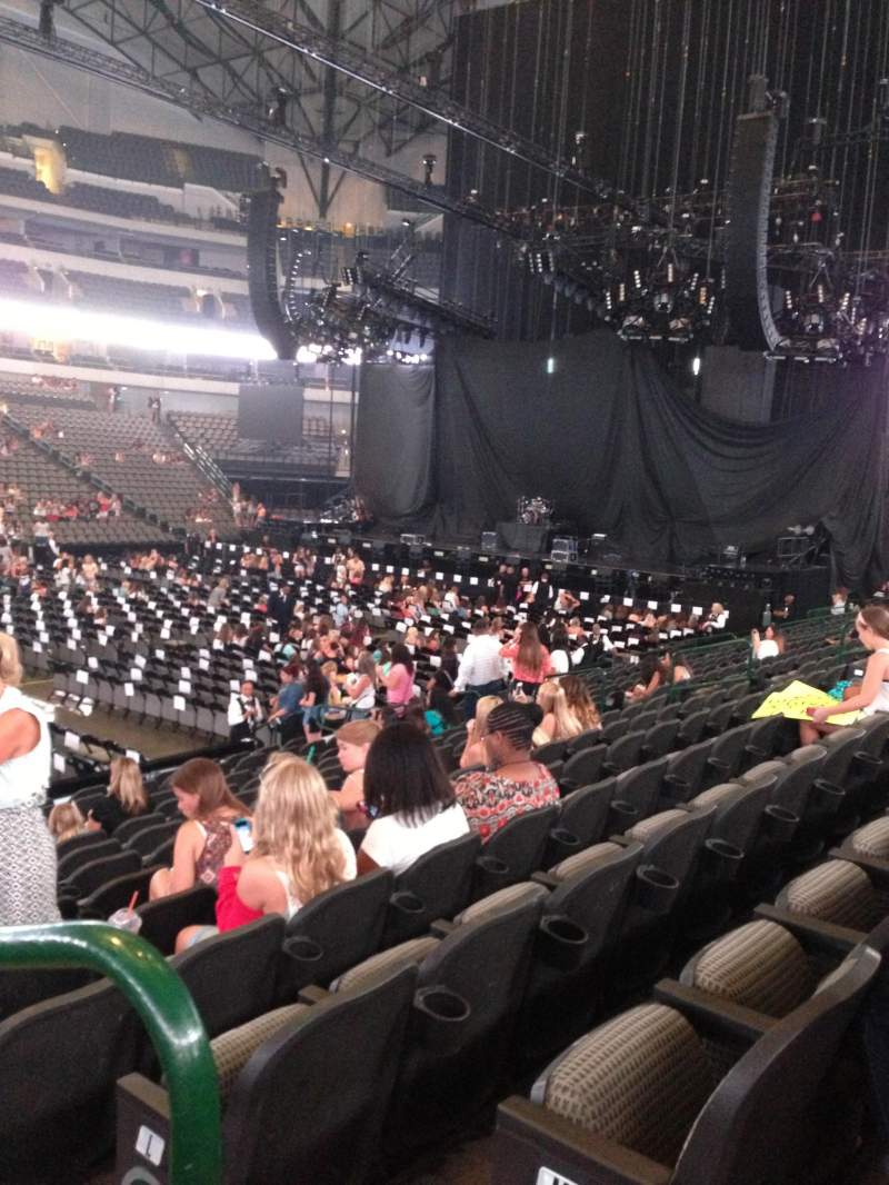 Seating view for American Airlines Center Section 108 Row N Seat 1