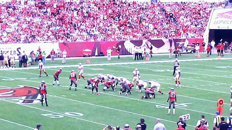 Seating view for Raymond James Stadium