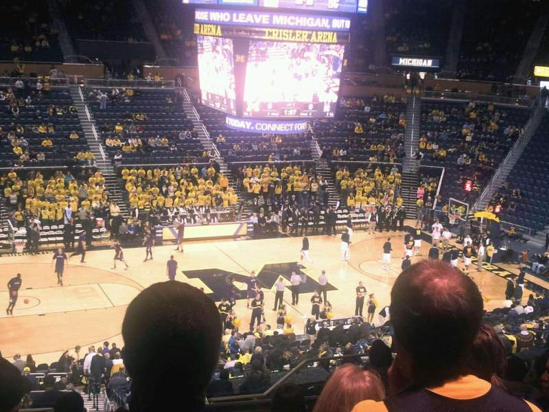 Seating view for Crisler Center Section 207 Row 34 Seat 9