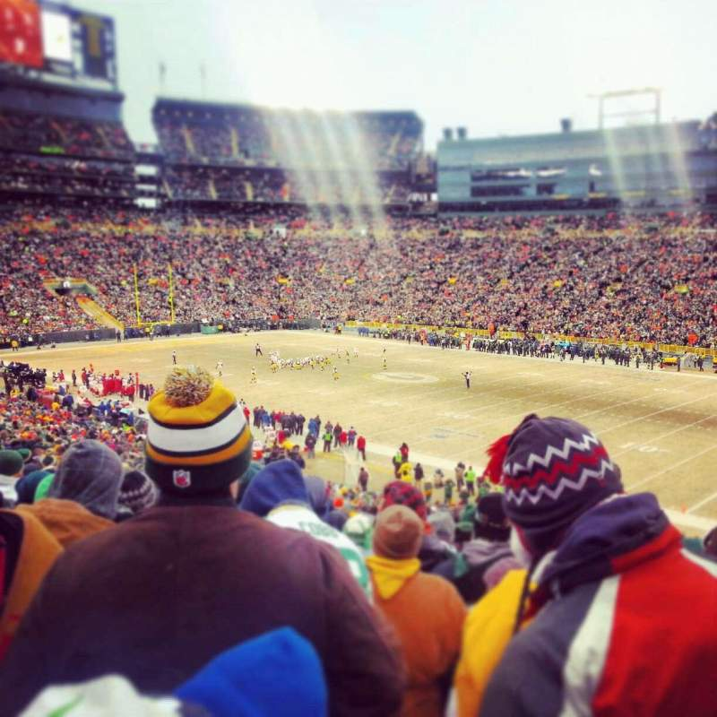 Seating view for Lambeau Field Section 109 Row 47 Seat 12