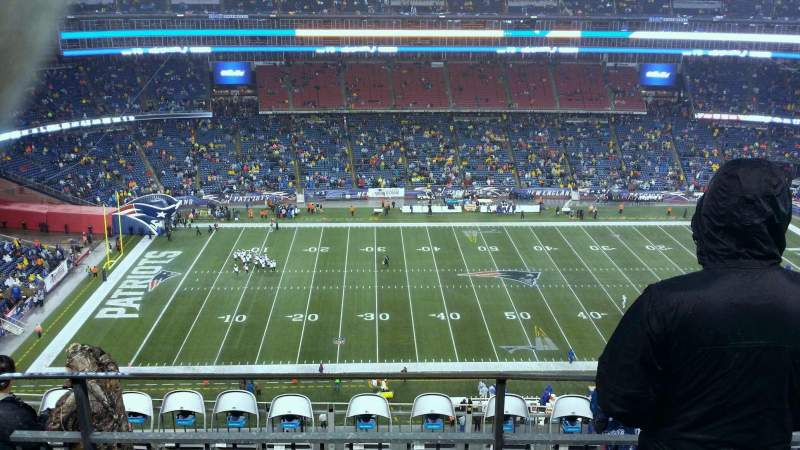 Seating view for Gillette Stadium Section 333 Row 10 Seat 11