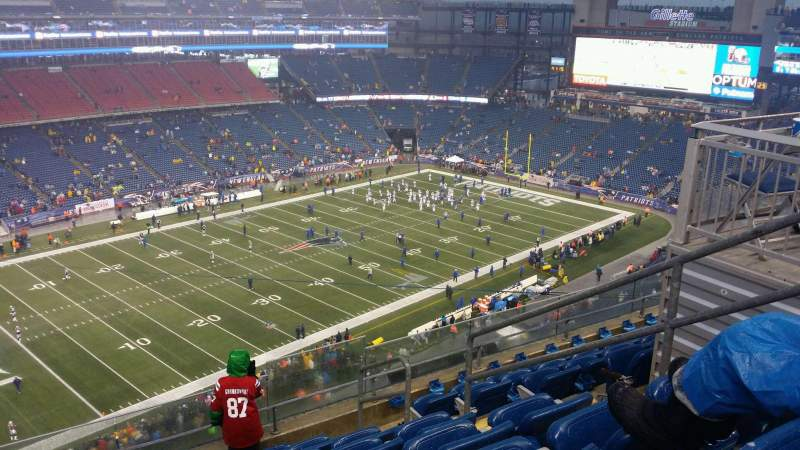Seating view for Gillette Stadium Section 338 Row 7 Seat 5