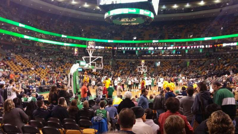 Seating view for TD Garden Section Loge 5 Row 2 Seat 9