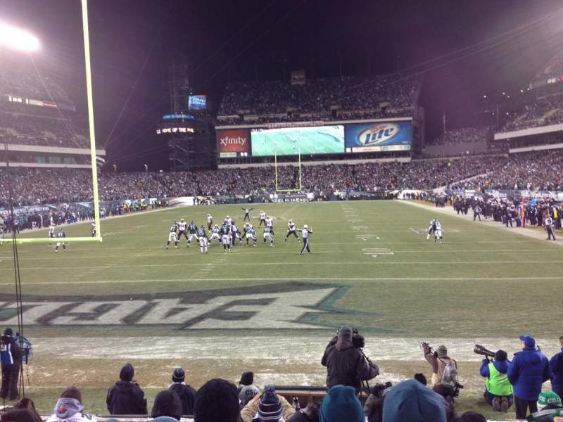 Seating view for Lincoln Financial Field Section 111 Row 7 Seat 14