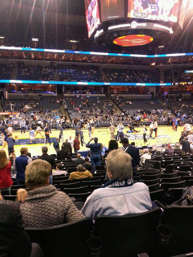 Seating view for FedEx Forum Section 104 Row Q Seat 8