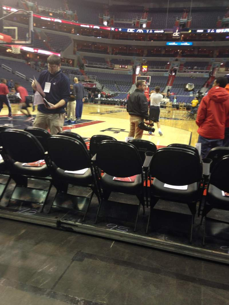 Seating view for Verizon Center Section Box West Row CCC Seat 30