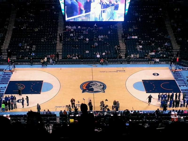 Seating view for Spectrum Center Section 209 Row R Seat 4