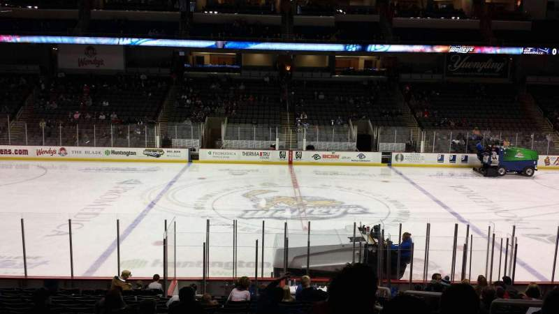 Seating view for Huntington Center Section 118 Row S Seat 3