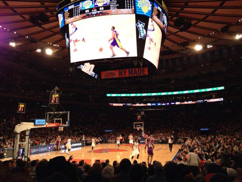 Seating view for Madison Square Garden Section 9 Row 11 Seat 8