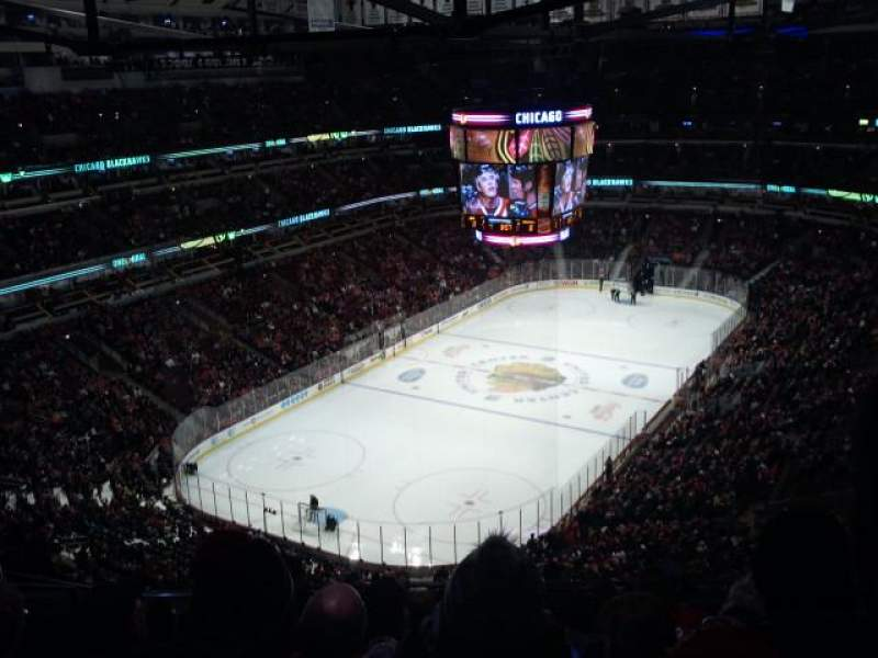 Seating view for United Center Section 306 Row 14 Seat 19