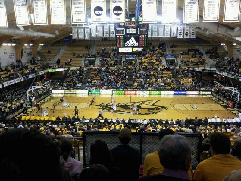 Seating view for University Arena (Western Michigan University) Section 201 Row 18 Seat 18