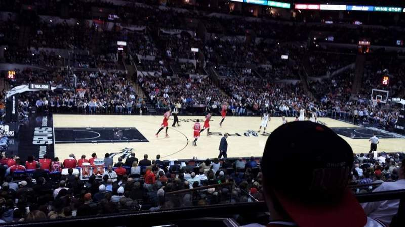 Seating view for AT&T Center Section 109 Row 21 Seat 11