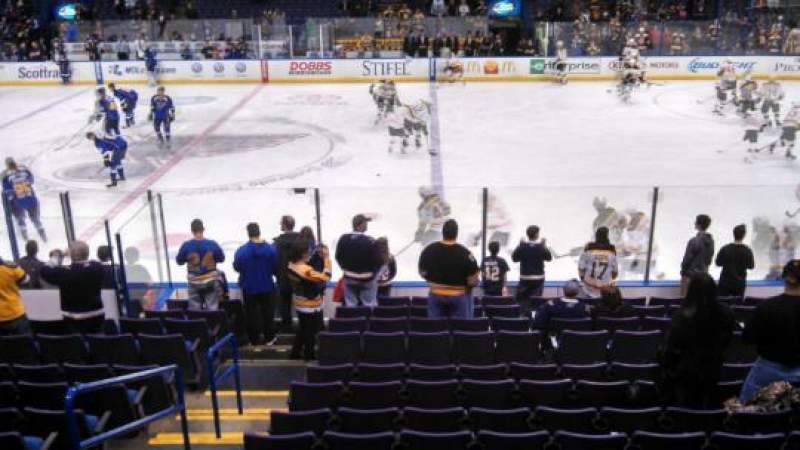 Seating view for Scottrade Center Section 115 Row P Seat 18