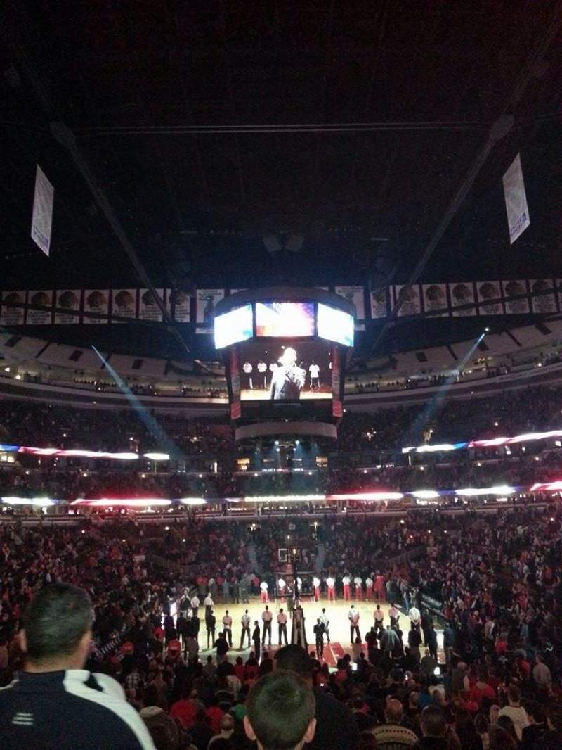 Seating view for United Center Section 117 Row 17 Seat 06