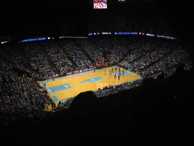 Seating view for Dean Dome Section 222A Row W Seat 5