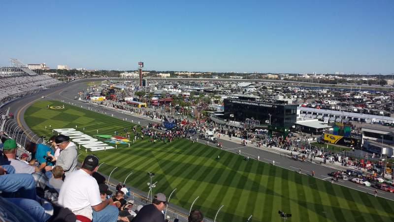 Seating view for Daytona International Speedway Section Petty Tower Y Row 49 Seat 18