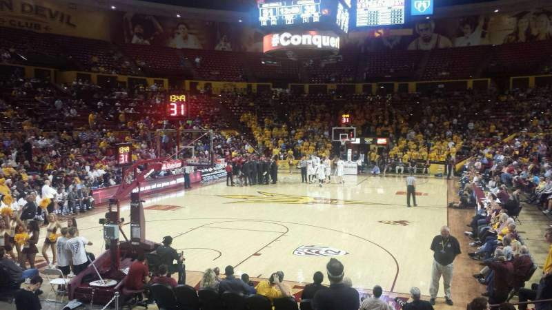 Seating view for Wells Fargo Arena (Tempe) Section y Row 9 Seat 5