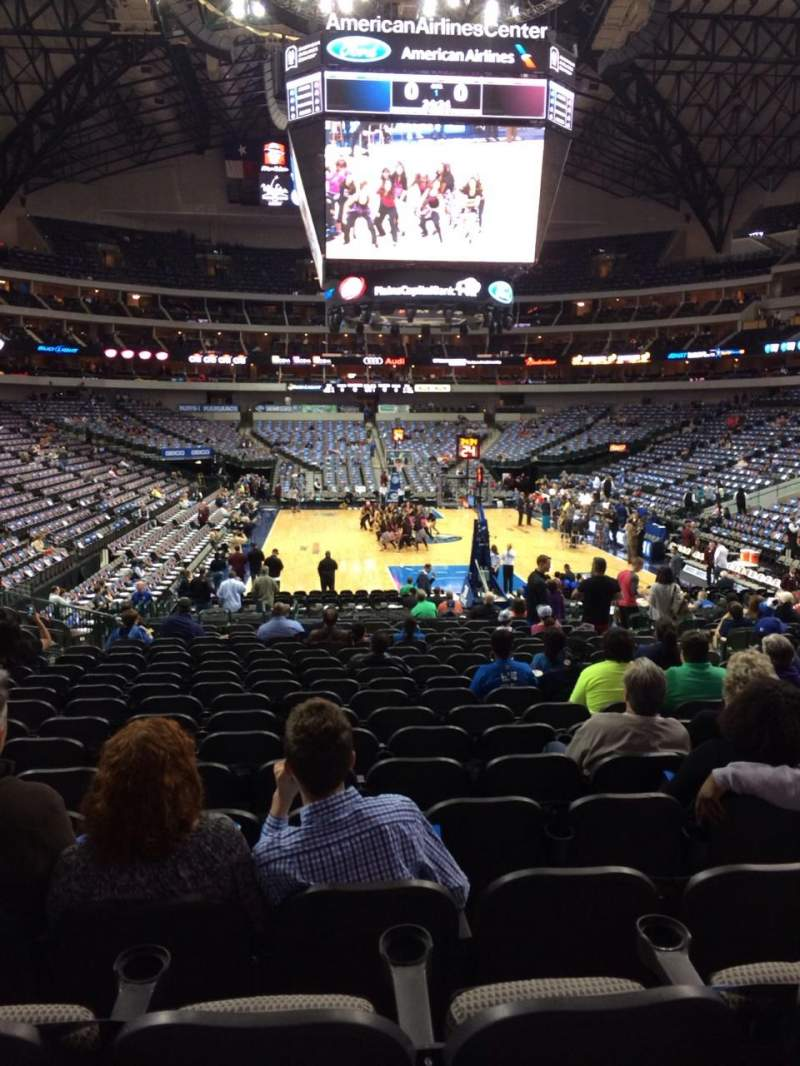 Seating view for American Airlines Center Section 101 Row S Seat 9