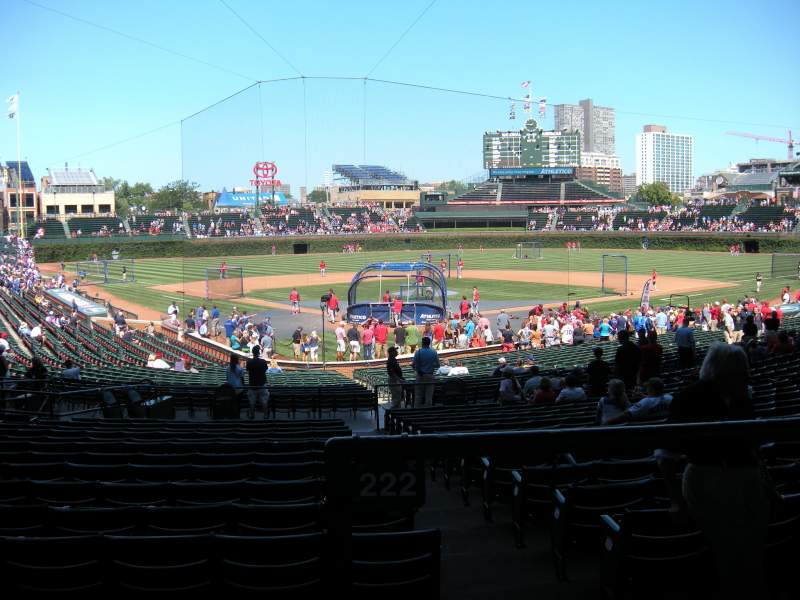 Seating view for Wrigley Field Section 222 Row 1 Seat 2