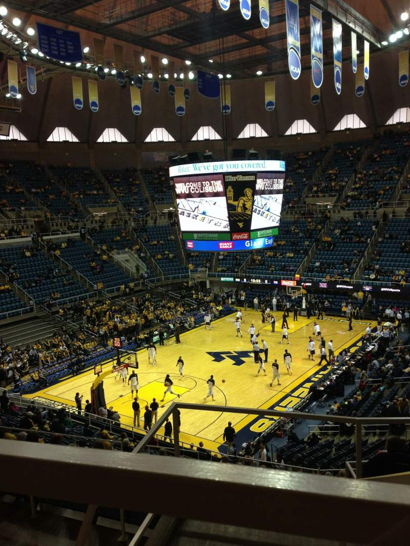 Wvu coliseum home of west virginia mountaineers for Restaurant seating chart app