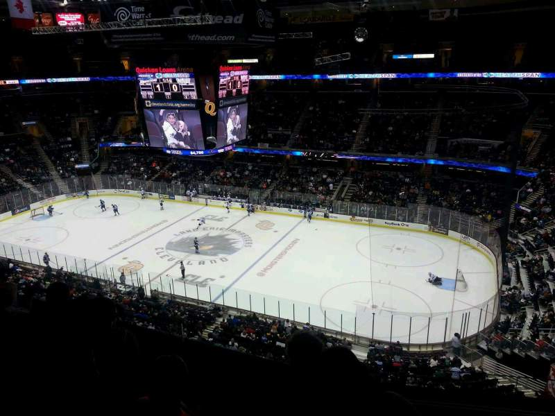 Seating view for Quicken Loans Arena Section 211 Row 4 Seat 8
